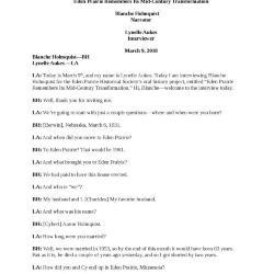 Transcript-Oral History-Blance Holmquist