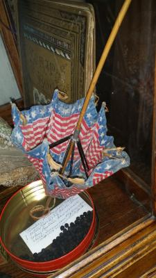 Flag carried by Abbie Tuckey Picha at the end of World War I
